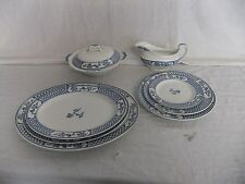 C4 Pottery Johnson Bros The Exeter - blue & white pattern, 1940s to 1950s - 2D3B