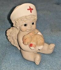 Dreamsicles by Kristin - Nurse Figurine, Cherub Angel with Bunny Rabbit 2000
