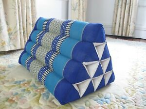 Thai Triangle Pillow Natural Kapok Fiber Firm Support Cushion Back Knee Legs