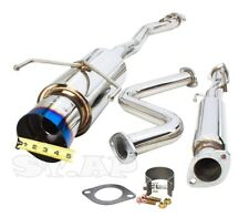 90-93 Honda Accord Cb7 Cb3 Cb1 Jdm Catback Exhaust System Muffler Burnt Tip Kit