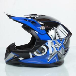Casco Integral Desde Motocross Azul para Niños Torx Peter Blue Talla M Nuevo
