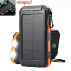 2021 Super 900000mAh USB Portable Charger Solar Power Bank For Cell Phone Orange