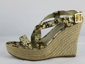 Guess wgtrixee women's wedge sandals multicolor flowers textile upper size 9.5M