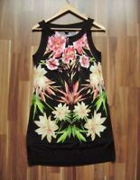@ Selection by S.Oliver @ Dress Black Large Flowers Size M UK 10 US 8 Size 38