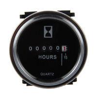 Contador de horas 6 a 80 voltios DC - Anillo de ajuste redondo plateado Z7W6