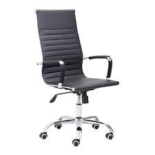 Silla de oficina ergonomica, sillon giratorio despacho, Blanco y Negro, Letter