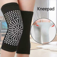 Self Heating Knit Knee Pads Knee Support Therapy Pain Relief Arthritis Brace 2pc