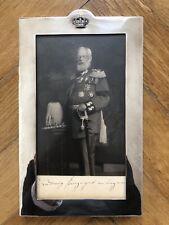 König Ludwig III von Bayern, Geschenkfotografie im Silberrahmen, Theodor Heiden