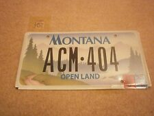 AMERICAN MONTANA OPEN LAND SEPT 2004 SCENIC GRAPHIC # ACM-404 RARE NUMBER PLATE