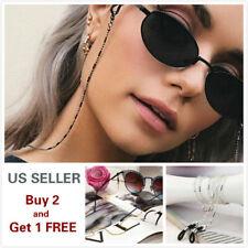 Eyeglass Chain Sunglasses Read Bead Glasses Chain Holder Eyewear Rope Necklace B