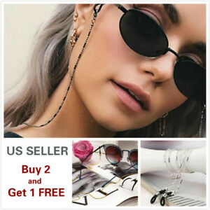 Eyeglass Chain Sunglasses Read Bead Glasses Chain Holder Eyewear Rope Necklace B