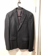 Politix Brand 2 Piece Blue Gray Suit Sz M 34 Worn Once Double Vent Oxford