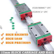 HIWIN EGR15 Linear Rail Motion Guide 800mm +2pc EGH15CA Sliding Block Carriage