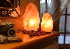 10-12 Kgs NATURAL HIMALAYAN ROCK SALT IONIZING HEALING LAMP-UK plug & bulb