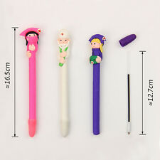Creative Cute Character Doctor Nurse  Polymer Caly Ball Ballpoint Pen Stationery