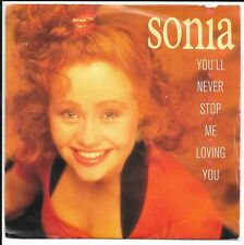 """Sonia - You'll Never Stop Me Loving You - UK 7"""" - CHS 3385 - 1989"""