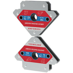 2 pcs 75lbs Arrow Welding Magnet Set Welder Soldering Angle Holder