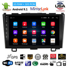 Car 9''Android9.1 2Din Touch Screen Stereo Radio Gps Bt WiFi For Honda Crv 07-11