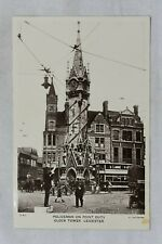 More details for postcard policeman point duty clock tower leicester unposted real photo rp