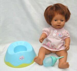 Zapf Creation My Mini Baby Born Doll - Bottle and Potty bundle