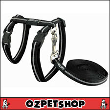 Rogz AlleyCat Cat Harness & Lead Set - Black Small