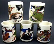 5 Sexy Saki Cups Set Japanese Men & Geishas In Different Poses 2""