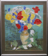 SYLVIA WARMAN BRITISH FLORAL OIL PAINTING  POPPIES POST IMPRESSIONIST 1922