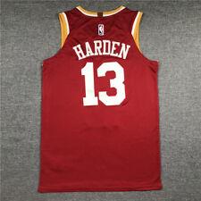 Retro James Harden #13 Houston Rockets Camiseta Jersey Cosido Baloncesto Rojo