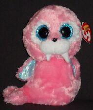 """Ty Beanie Boos - Tusk the 6"""" Pink Walrus - Mint with Mint Tags"""
