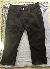Rock And Republic Size 8 Black And Gold Capris Bling Cute