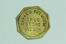 Barkl's Premium Drug Store Sac City Iowa 10 Cent Trade Token