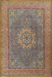 Antique Floral Overdyed Oriental Traditional Area Rug Hand-knotted Wool 10x13 ft