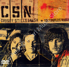 CROSBY, STILLS & NASH THE COMPLETE WORKS CD + 2 DVD CSN concert live new sealed