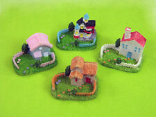 Miniature Houses with Gardens for Fairy Gardens by Mowbray Miniatures (4 pcs)