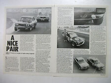 MAZDA RX3 RACE CARS REVIEWED AND DRIVEN ON THE TRACK 4 PAGE MAGAZINE ARTICLE