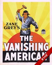 ZANE GREY MOVIE POSTER VANISHING AMERICAN NATIVE INDIAN ART REAL CANVAS PRINT