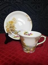"SHELLEY ""HEATHER"" PERTH SHAPED TEA CUP & SAUCER"