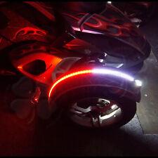 1x Dual Color LED Fender Channel Strip Red White Can Am Spyder SMD Light Flex