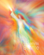 ARCHANGEL JOPHIEL PAINTING Guardian Angel Picture - Angel Art by Glenyss Bourne