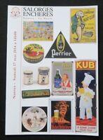 Catalogue vente enchères 2014 1 plaque émaillée publicitaire KUB RABIER MENIER