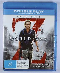 World War Z Blu Ray ONLY FREE POST