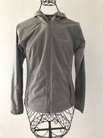 Columbia Women Omni-shield Gray Hooded Wingbreaker Jacket Sz XS