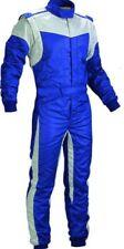 FIREPROOF / Flame Retardant GO Kart-Autograss Bangers Mechanics Suit-Blue-White