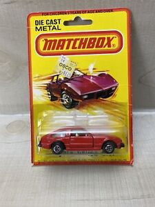 Vintage Matchbox Toyota Celica GT RED 1980 Hong Kong SUPERFAST ON CARD  RARE