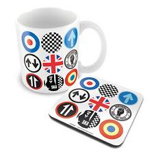 Mod y Ska iconos taza de café y conjunto de montaña rusa MGCS 00045