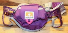 Nathan Purple Running Hiking Belt Reflective Safety With Pouch Bottle Holder +