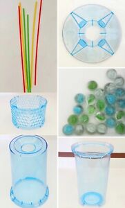 KERPLUNK Game BASE Cup Tube Connector Marbles Sticks Replacement Blue Mattel