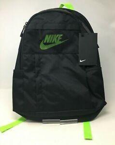 Nike Black and Fluorescent Green Rucksack - BNWT (IC137F)