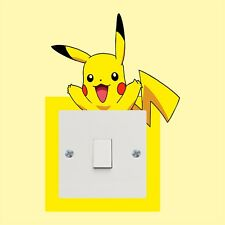POKEMON Pikachu Porte Wrap Decal Wall Sticker Mural Personnalisé Tout Nom D05