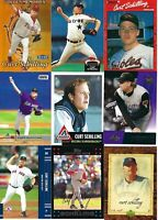 HUGE CURT SCHILLING BASEBALL CARD LOT - BOSTON RED SOX-D-BACKS-PHILLIES-ASTROS
